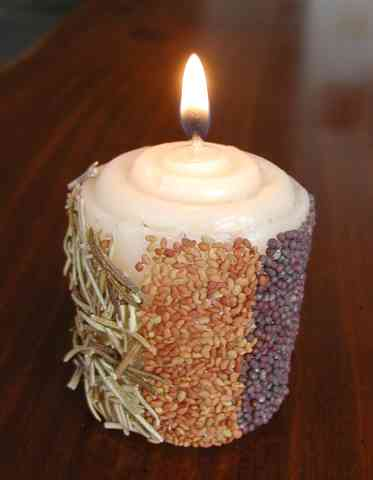 Decorated Candle