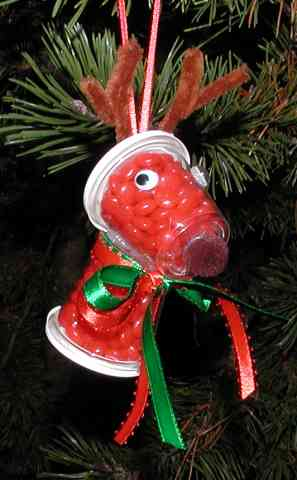 Candy Reindeer Ornament