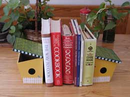 Recipe Box Bookends